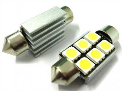 LED žarnice 70200 - C5W, 12V, 6xSMD, bela, 2 kosa
