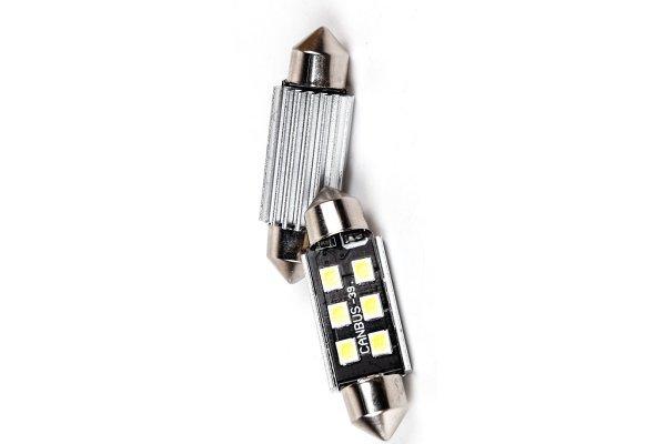 LED žarnice 9-30V, 6xSMD, 270Lm, 39mm, CANBUS, 2 kosa, 12 mesečna garancija, PREMIUM