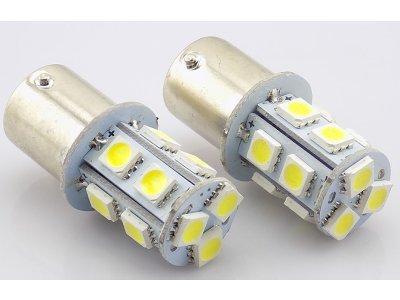 LED žarnice BA15S, 12V, 13xSMD, bela, 2 kosa