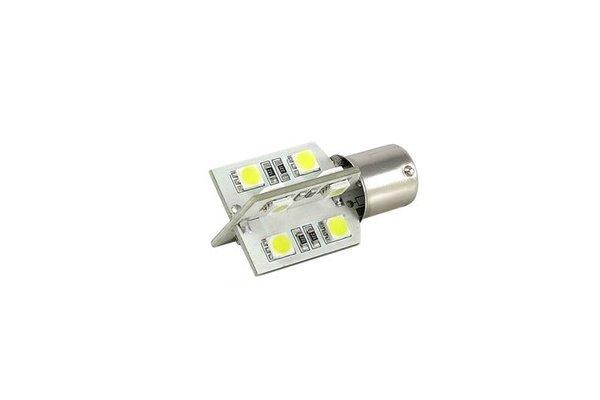 LED žarnice BA15S, 12V, 16xSMD, bela, 2 kosa