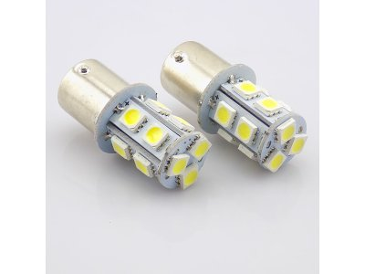 LED žarnice BA15S, 24V, 13xSMD, bela, 2 kosa
