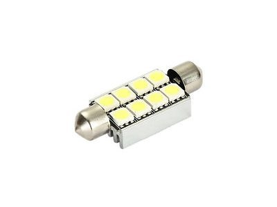 LED žarnice C5W, 12V, 8xSMD, bela, 2 kosa