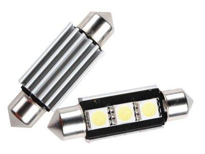 LED žarnice C5W, 24V, 3xSMD, bela, 2 kosa