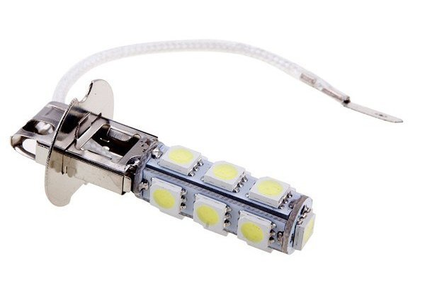 LED žarnice H3, 12V, 13xSMD, bela, 2 kosa