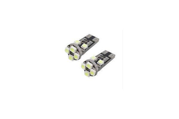 LED žarnice W5W, 12V, 8xSMD, bela, 2 kosa