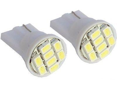 LED žarulje T10, 12V, 8xSMD, bijela, 2 komada