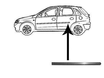 Leiste Hintenh Türen Opel CORSA C 00-06 5 Türen