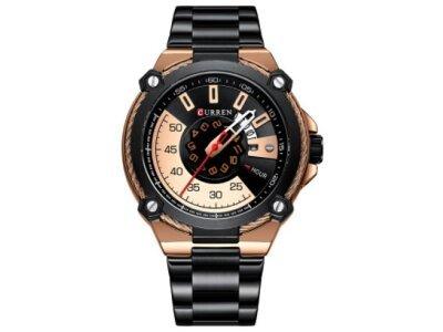 Luksuzna moška ura 8345, Črno-zlata