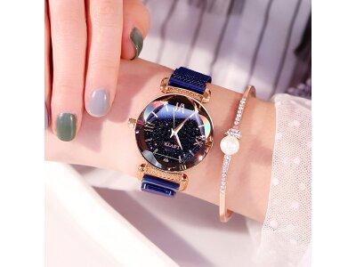 Luksuzni ženski modni sat Star Sky, Zlatna