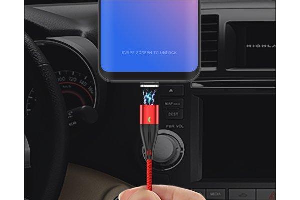 Magnetni kabel 3 u 1, QC3.0 18W 3A, micro USB, USB C i 8 pin, više boja