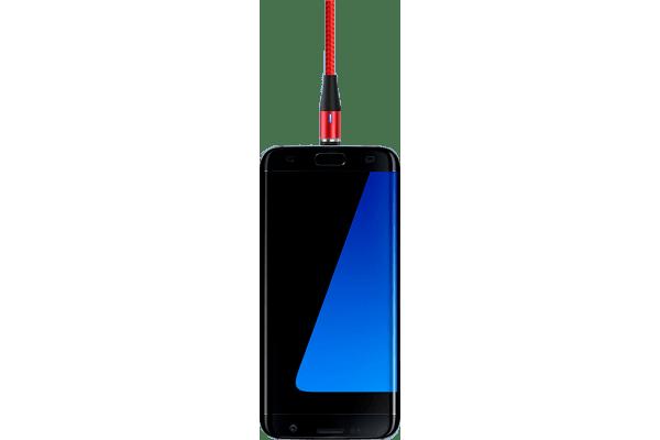 Magnetni kabel USB 3v1 3.0A mikro USB, USB C in 8 pin + Potovalni polnilec QC3.0, 30W, 3 USB vhodi, črna barva