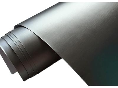 Mat sivo brušena folija, 50x153cm
