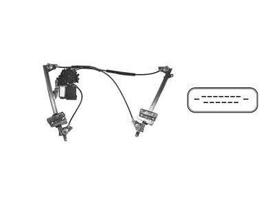 mechanismus scheibe Ford Galaxy -00 Hinten