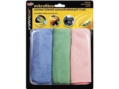 Microfibre krpe za nego vozila, set, 3 kosi