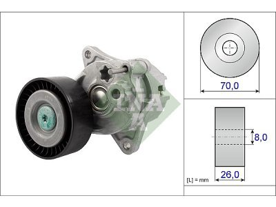 Mikro jermen (napenjalec) 534048110 - Mercedes-Benz Razred E 02-09