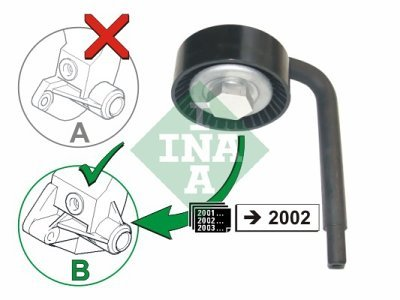 Mikro remen (napinjač) 531079010 - Opel Omega 94-03