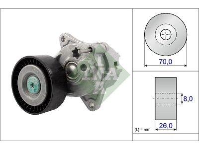 Mikro remen (napinjač) 534048110 - Mercedes-Benz Razred E 02-09