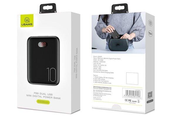 Mini prenosna baterija PowerBank, 10000 mAh, digitalni ekran + Magnetni kabal 3 u 1
