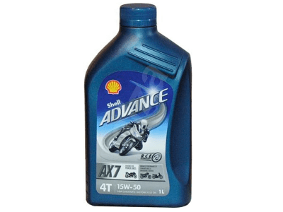 Motorno olje Shell Advance 4T AX7 15W50 1L