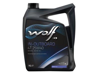 Motorno Olje WOLF IN-OUTBOARD 4T 25W40 4L
