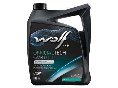 Motorno ulje WOLF OFFICIALTECH 5W30 LL III 5L