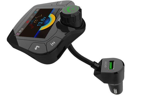 Multifunkcijski FM/Bluetooth oddajnik in polnilec 5.0, AUX, MP3, Premium