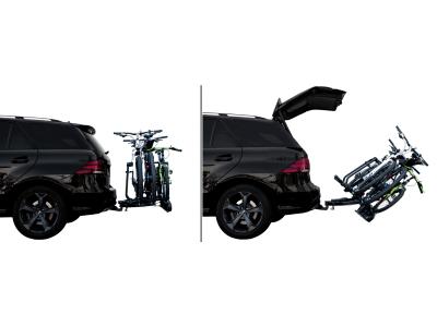 Nosilec za kolo Active bike 2 (črna barva), kljuka avtomobila, 2 kolesi