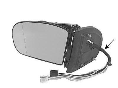 Ogledalo Mercedes C W203 00-07, električno zložljivo, 9 pin
