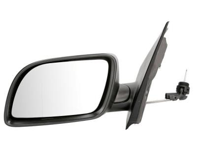 Ogledalo Volkswagen Polo 01-05, ročni pomik, ohišje za lakiranje