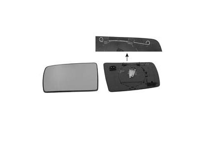 Ogledalo za retrovizor Mercedes C W202/E W210/S W140 93-98 grijano/asf