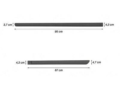 Okrasna letev Kia Rio 00-05, 95 / 67cm