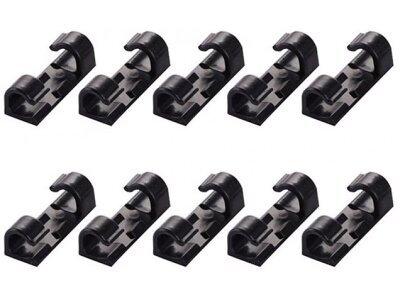 Organizator kabela, 20 komada, crni