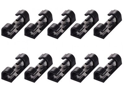 Organizator kablov, 20 kosov, črni