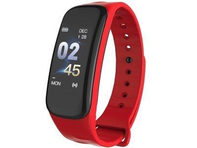 Pametna ura C1 Plus, vodoodbojna IP67, števec korakov, merilec srčnega utripa, Rdeča