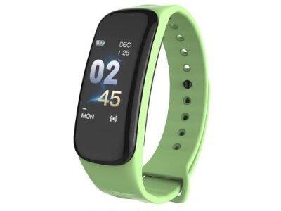 Pametna ura C1 Plus, vodoodbojna IP67, števec korakov, merilec srčnega utripa, Zelena