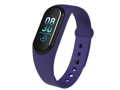Pametna ura M4 2019, vodoodbojna, števec korakov, merilec srčnega utripa, Modra + Brezplačna dostava