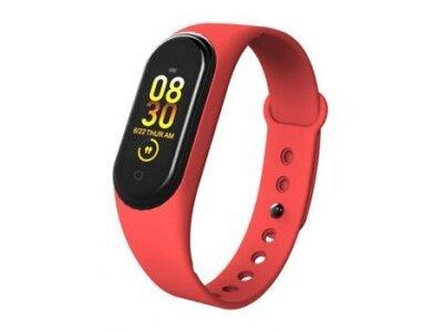 Pametna ura M4 2019, vodoodbojna, števec korakov, merilec srčnega utripa, Rdeča + Brezplačna dostava