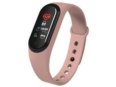 Pametna ura M4 2019, vodoodbojna, števec korakov, merilec srčnega utripa, Roza + Brezplačna dostava
