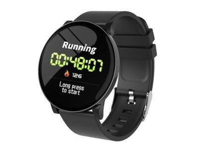 Pametna ura W8, športna eleganca, pedometer, krvni tlak, črna