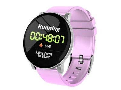 Pametna ura W8, športna eleganca, pedometer, krvni tlak, vijolična