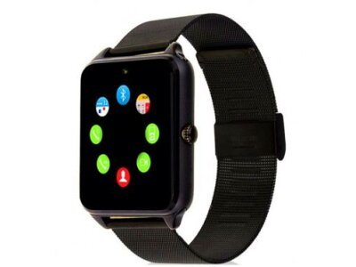 Pametna ura Z60, Bluetooth, fotoaparat, GPS, SIM kartica, TF kartice, Črna