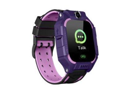 Pametna ura za otroke Q19, LBS, Geo Fence, Klici, SMS, SOS tipka, vijola