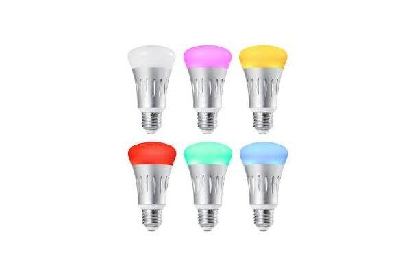 Pametna žarnica LED, WiFi upravljanje, 16 milijonov barv, 7W, povezava z Alexa + Google Assistant