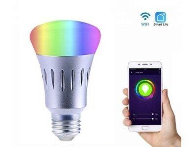 Pametna žarulja, Wifi upravljanje, 16 milijuna boja, 7W, povezivanje sa Aleksa + Google Assistant