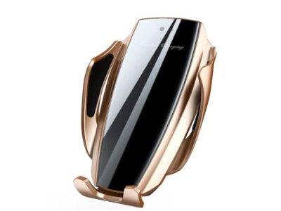 Pametni držač X5, 3v1, držač + punjač + osvježivač zraka, Gold