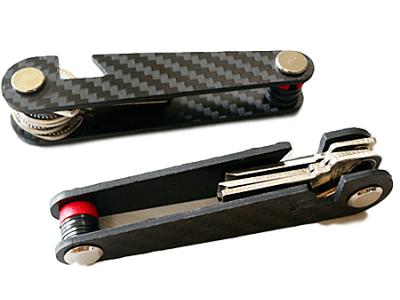 Pametni organizator za ključe (model 2), karbon, odpiralo
