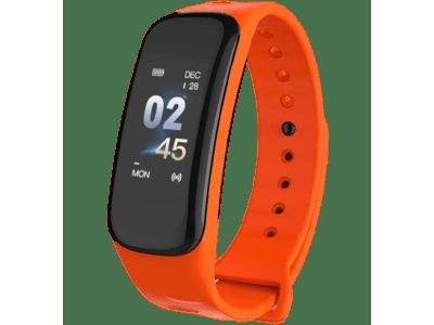 Pametni sat C1 Plus, vodootporni IP67, brojač koraka, merač srčanog otkucaja, Narandžasta