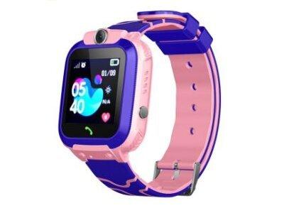Pametni sat za djecu 12, LBS + GPS, SOS tipka, Geo Fance, Pozivi, SMS, Ružičasta