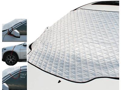 Pametno pokrivalo za vetrobransko steklo 2 v 1, 2. generacija, dodatno 2x pritrjevanje, 148 x 118 cm