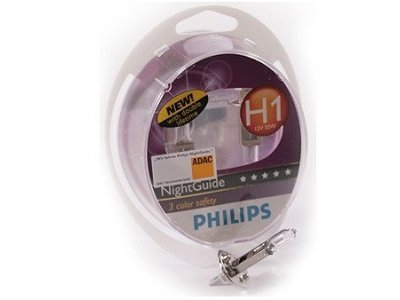 Par žarnic Philips 12V H1 55W Night Guide